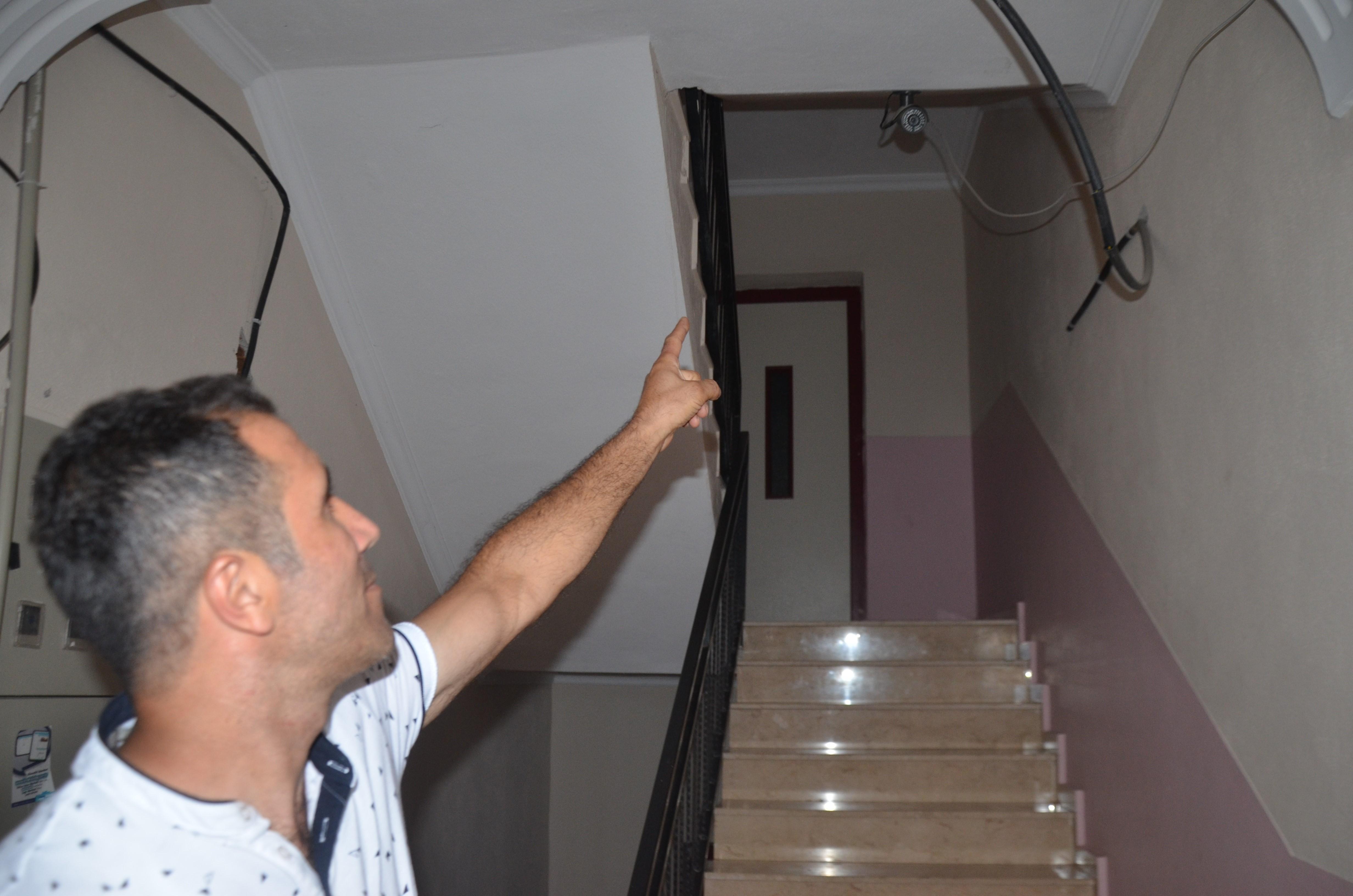 Apartmanlara dadanan hırsıza güvenlik kameraları bile çare olamadı